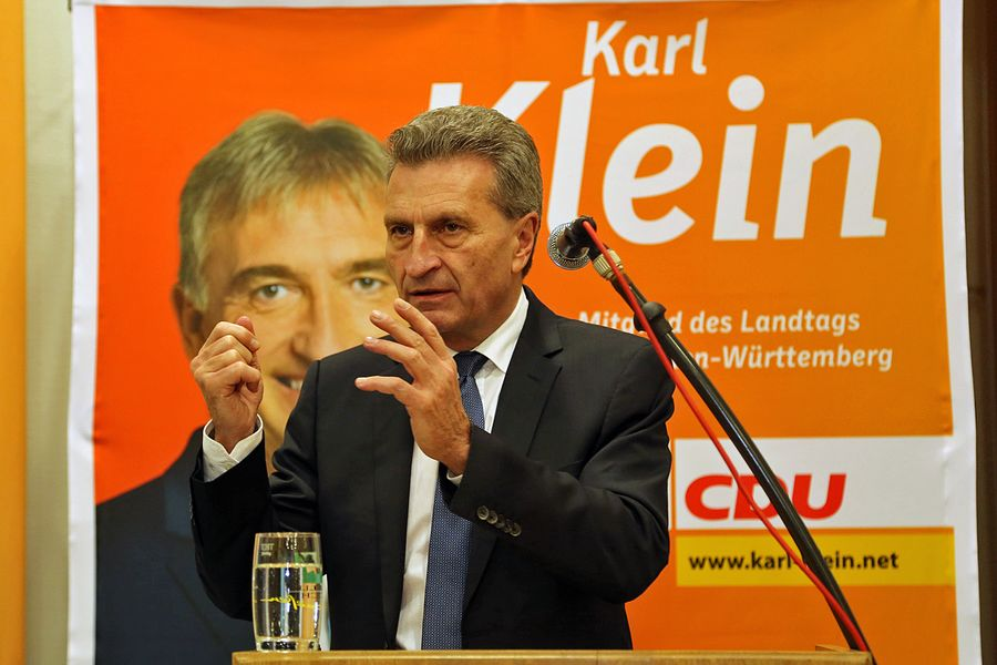 Günther H. Oettinger in Dielheim am 19.2.16